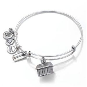Alex and Ani silver Monopoly House bangle